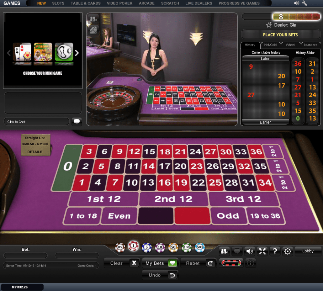 Play live roulette online usa