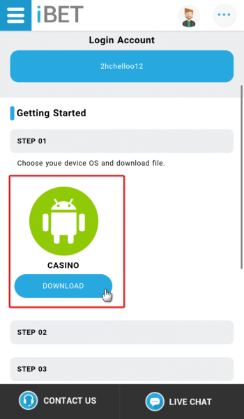 "Step 3 : Click the ""DOWNLOAD"" icon to download the game."