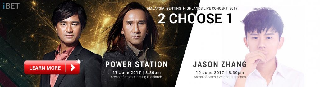 iBET Lucky Draw Jason Zhang & Power Station Concert Ticket