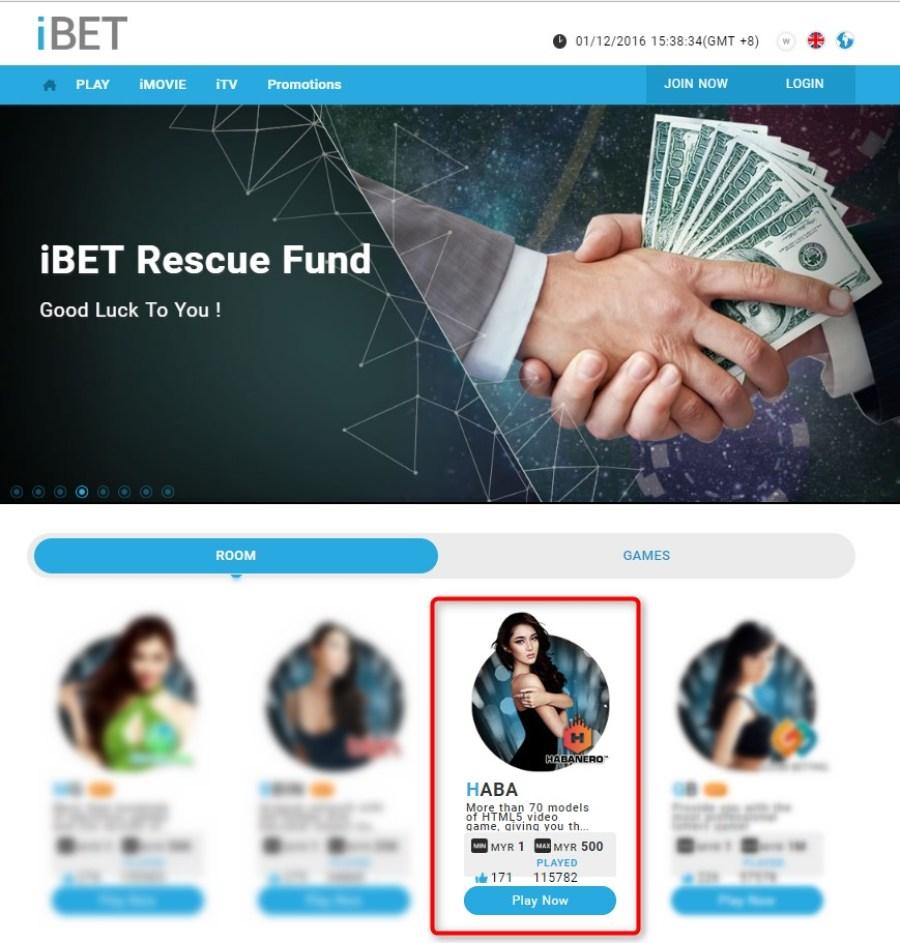 iBET Online Casino - HABA platform