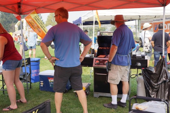 Glen on the grill and Rick ready for action