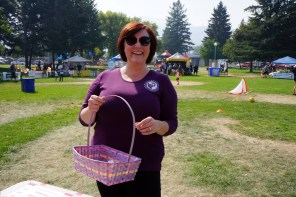 Our friend Barb Nederpel from the Kamloops & District Labour Council