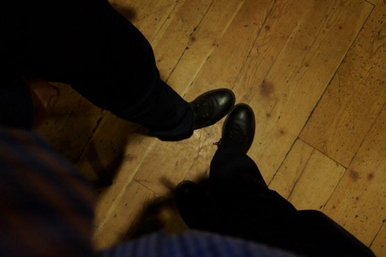 John Horgan's Foot and Darryl Schmidt's foot