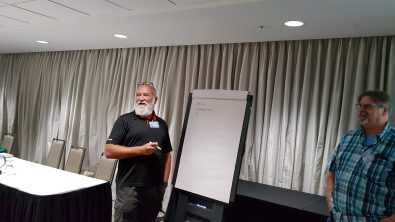 Glen presenting at All Canada Progress