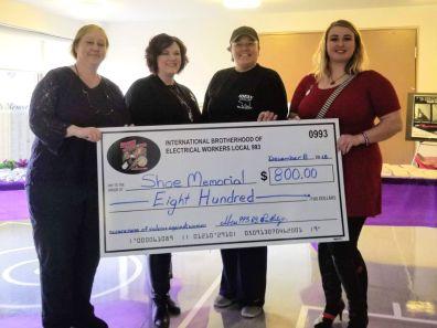 20181208 Shoe memorial donation cheque - 1200-900