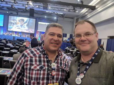 Jim Lofty (IBEW 213) and Darryl Schmidt