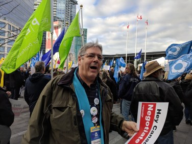 CUPW Demonstration outside the conference