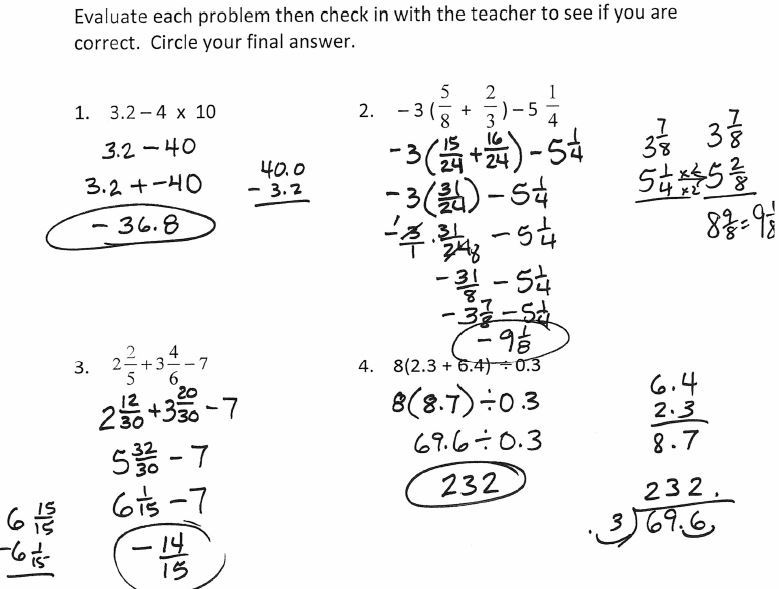 The Number System Worksheet Answers