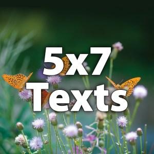 "5x7"" Texts"