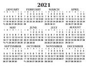 Wallet Calendar 2021 back