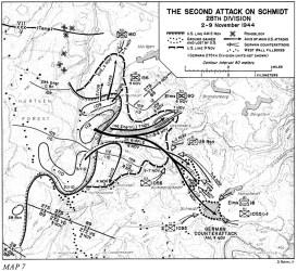 siegfried attack division 1944 line 28th schmidt second hurtgen forest map wwii army campaign november vossenack maps huertgen general cota