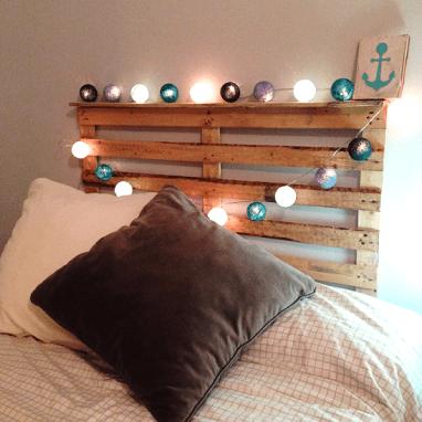 Cabecero de cama de medio palet