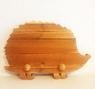 Colgador de madera infantil ERIZO