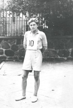 Bieg 3000 metrów 22.07.1947. Źródło: T. Centkowska.