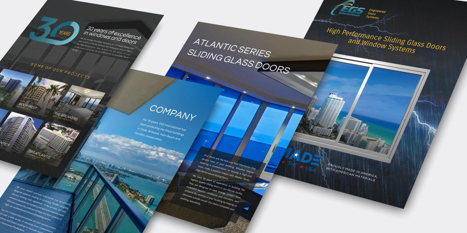 EGS International - graphic design services - brochure design