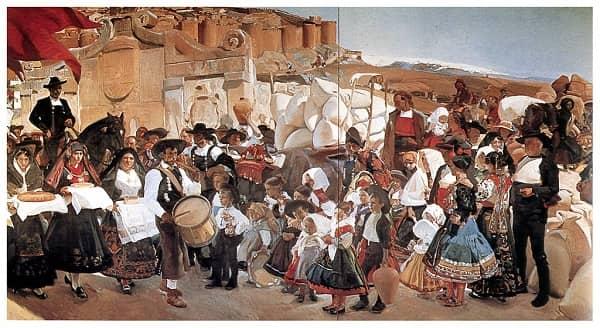 Castilla, la fiesta del pan, de Sorolla