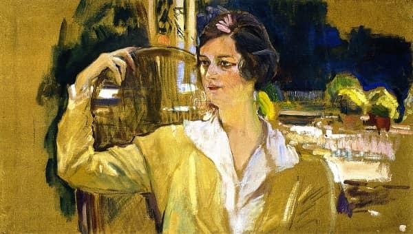 La señora de Pérez de Ayala, cuadro pintado por Sorolla