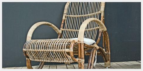 Nieuwe rotan lounge stoel some name it bamboo chair