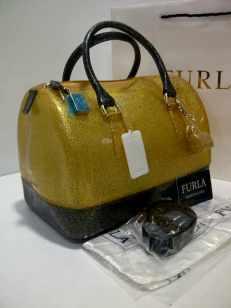 Furla Glitter 2 tones Black+Gold (i00)