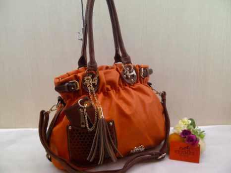 Hermes 6151 33x28x13 bahan kulit orange 200