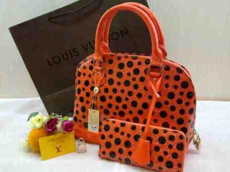 Lv yayoi alma Super set dompet 30x23x15 free paper bag Lv orange 280