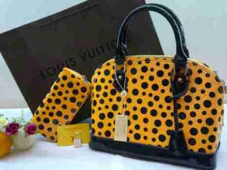 Lv yayoi alma super set dompet 30x23x15 free paper bag yellow 280