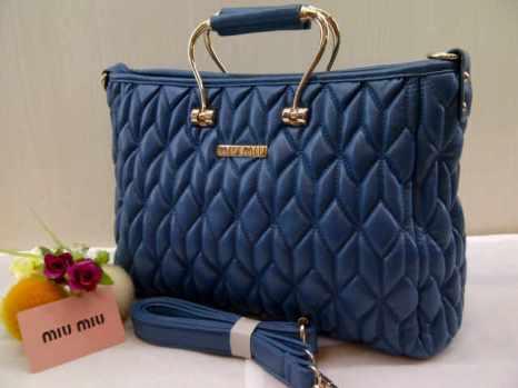 Miu-miu 8093 33x23x12 bahan kulit blue 200