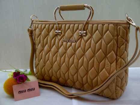 Miu-miu 8093 33x23x12 bahan kulit brown 200