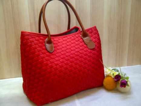 Sale maribel semi ori bahan polyester gagan kulit asli 35x28x19 red 300