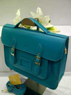 WX0 Cambridge Satchel 1211 Blue SemSup 30x9x22