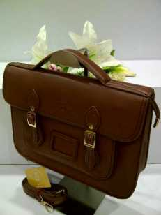 WX0 Cambridge Satchel 1211 Coffee SemSup 30x9x22