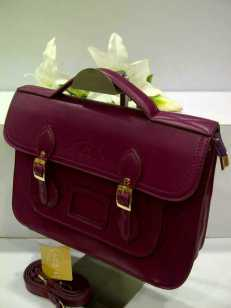 WX0 Cambridge Satchel 1211 Purple SemSup 30x9x22