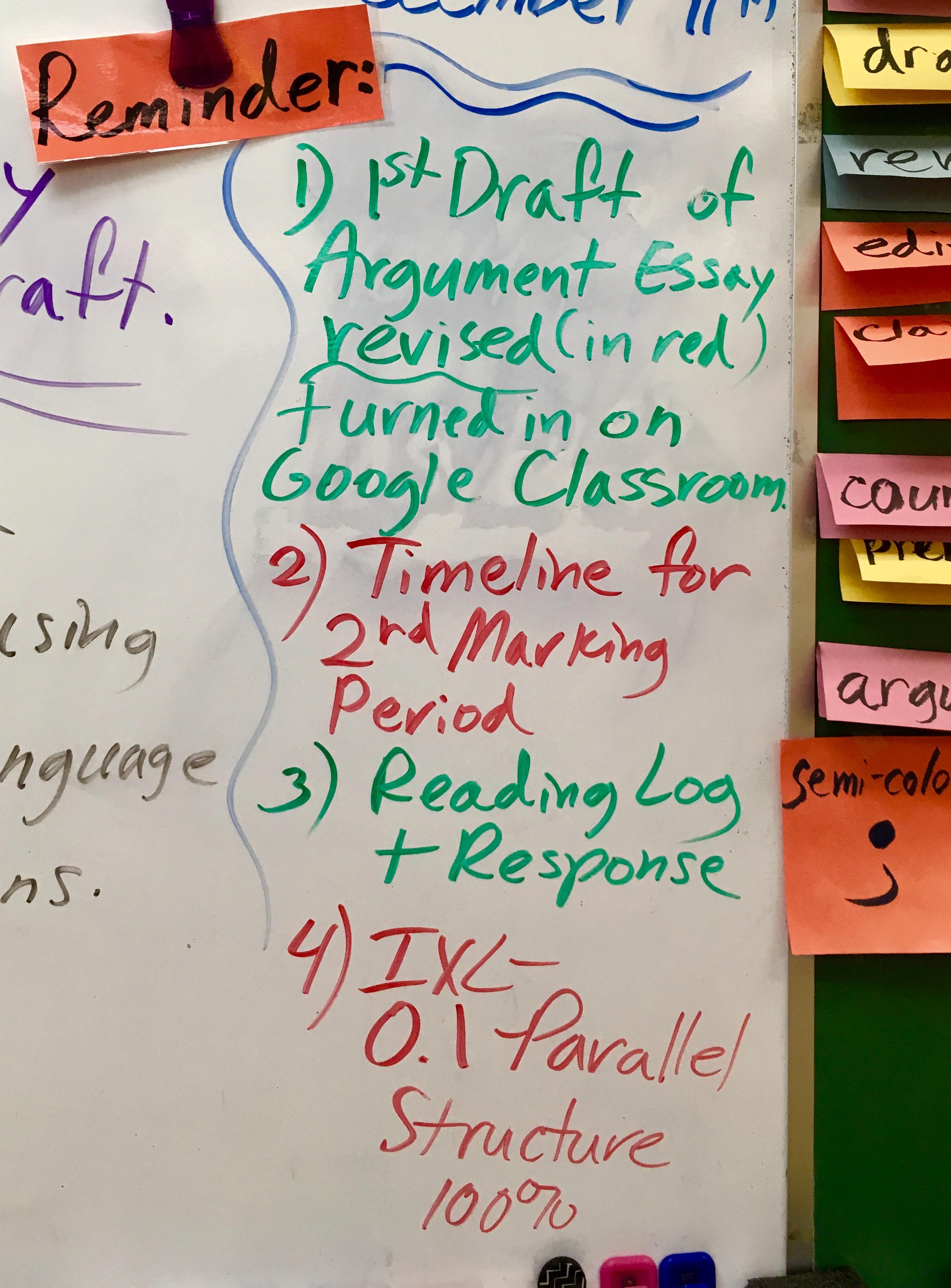 8th Grade Language Arts With Mrs Blazeski Reminders