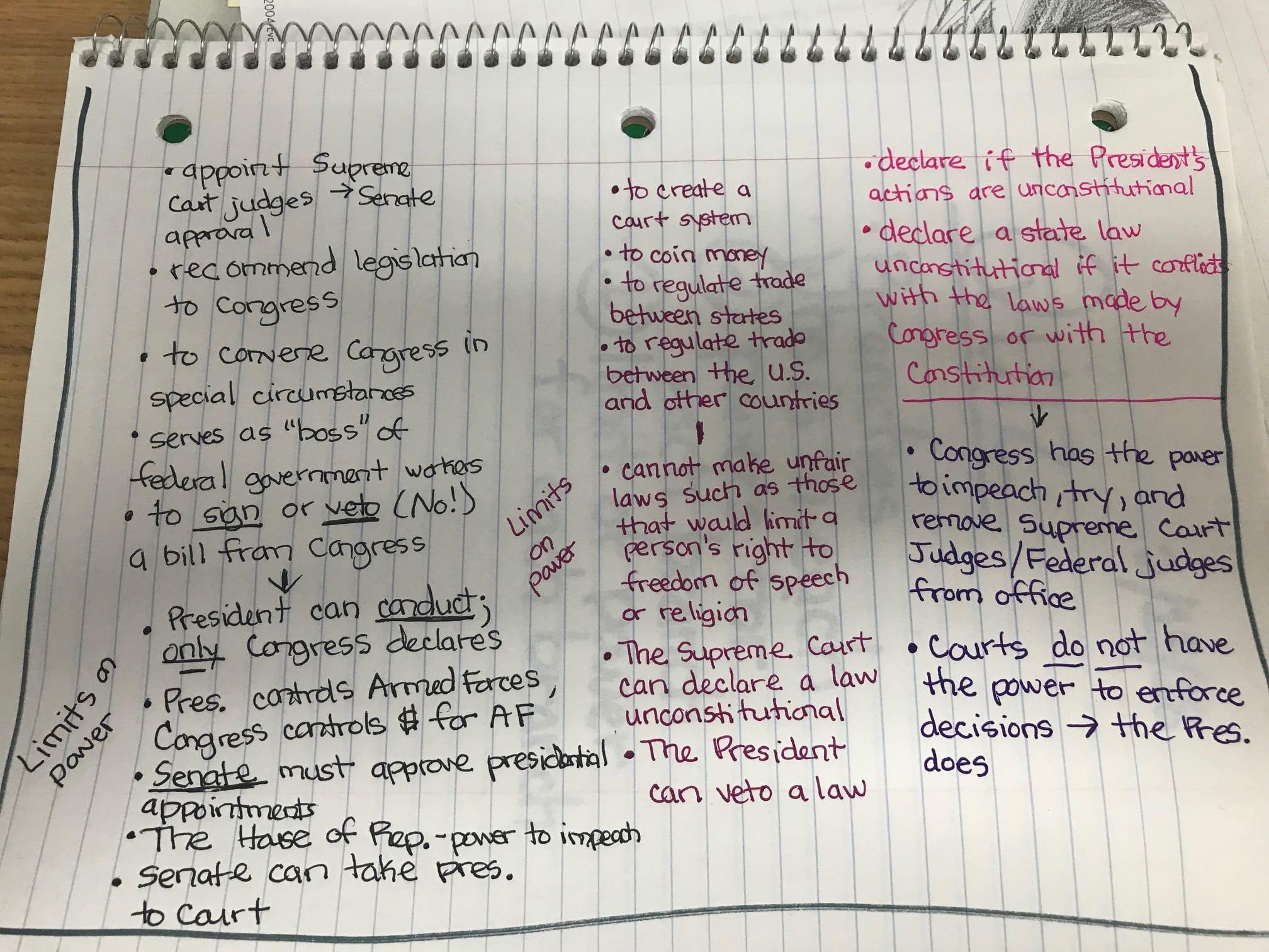 Homework Mrs Iuliano S Class