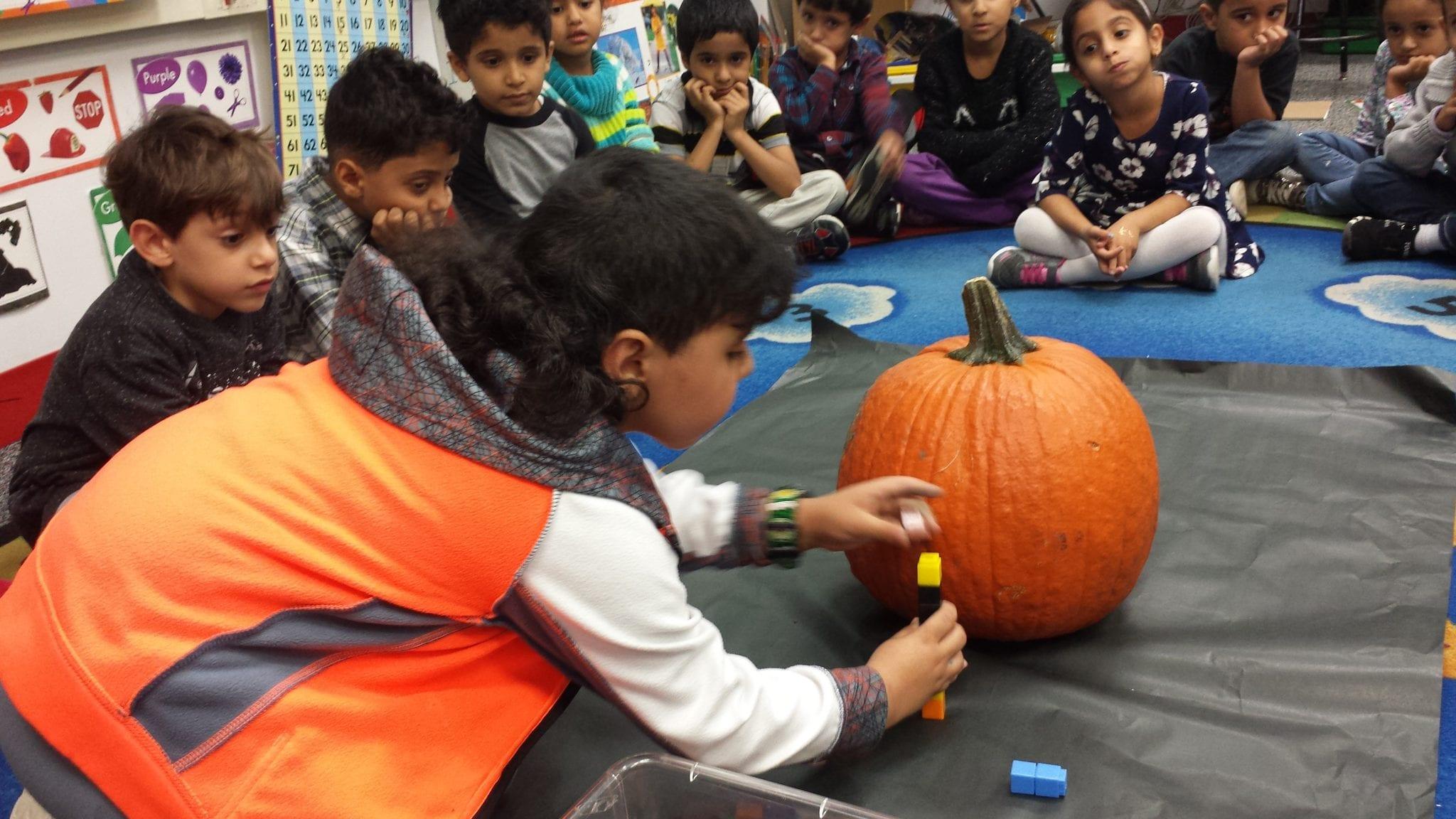 We Carved A Jack O Lantern