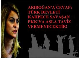 """""""PKK'yı yalancı, hakir ve aşağı göstermeyin"""" diyen Deniz Ülke Arıboğan'a cevap!"""