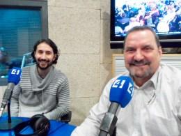 Gustavo Artigues Maestre autor y Guillem Rosselló editor de edicions Baleria