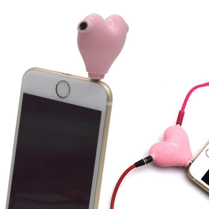 2-Way Heart Shaped Headphone Splitter 3.5mm