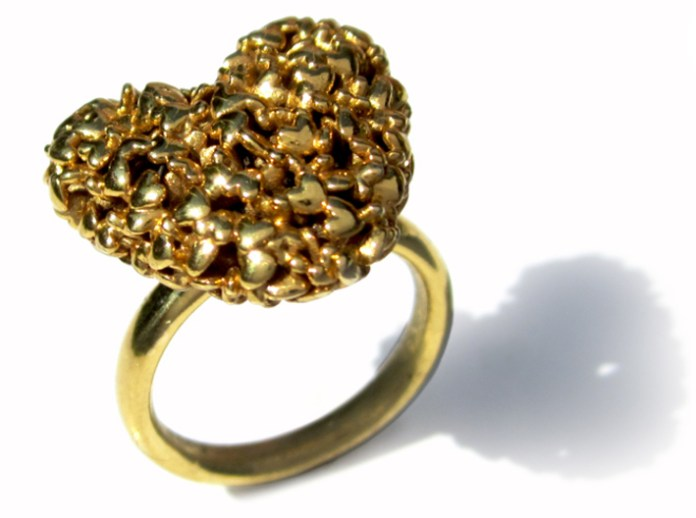 3D-printed heart ring