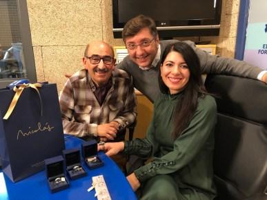 Nicolas Pomar junto a Carme Coll y Carlos Durán