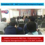 Pembekalan ICDP – IBMT Community