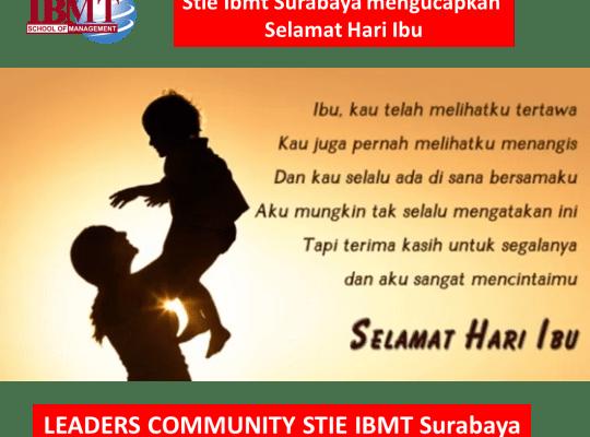 Stie Ibmt Surabaya mengucapkan Selamat Hari Ibu