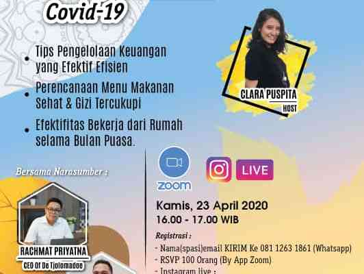 Banner Tips Persiapan Puasa Ramadhan ditengah Pandemi Covid-19