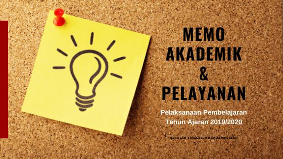 banner memo akademik dan pelayanan stie ibmt