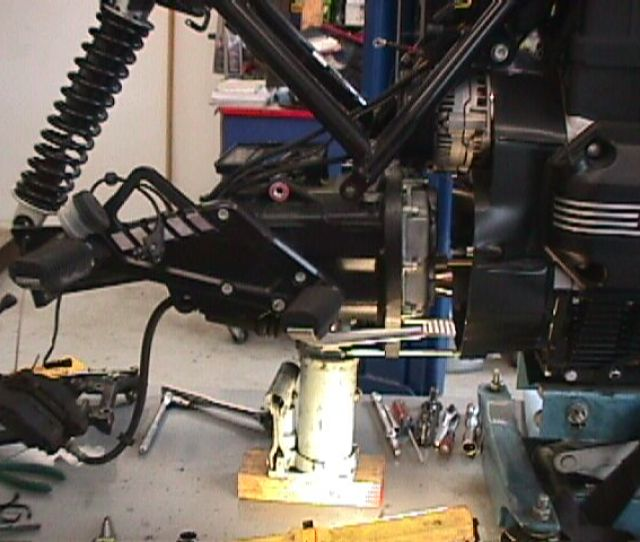 Note I Use A Bottle Jack To Reduce The Weight Upon The Alignment Bolts