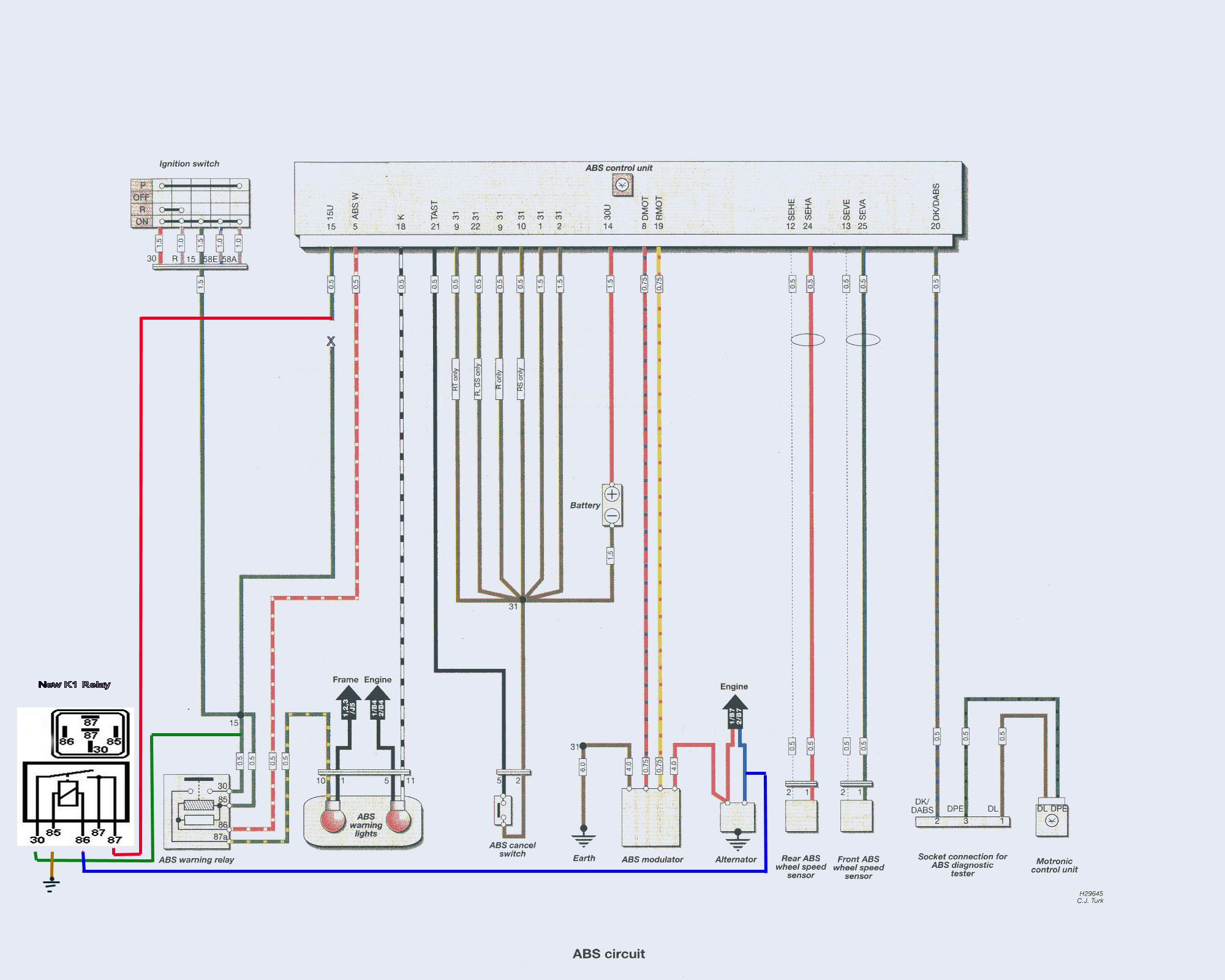 e36 diagnostic port wiring diagram msd 2 step abs ii low voltage fault modification the internet bmw