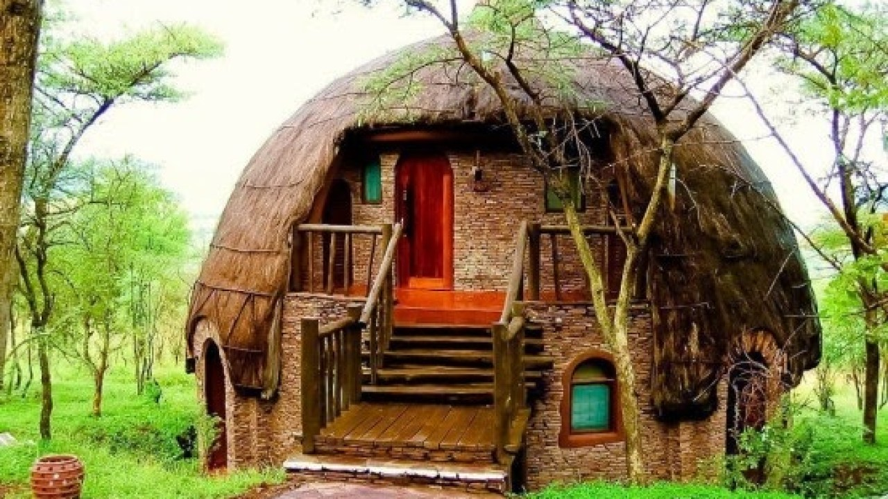 rumah adat honai yang telah dimodifikasi