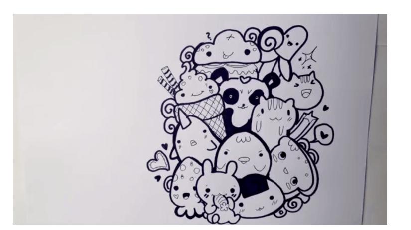 Contoh gambar doodle art