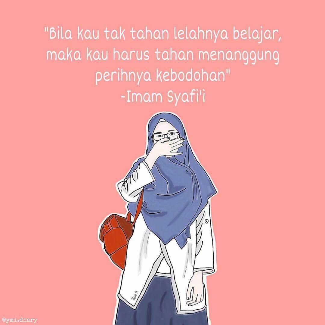31+ Gambar Kartun Wanita Hijab Galau