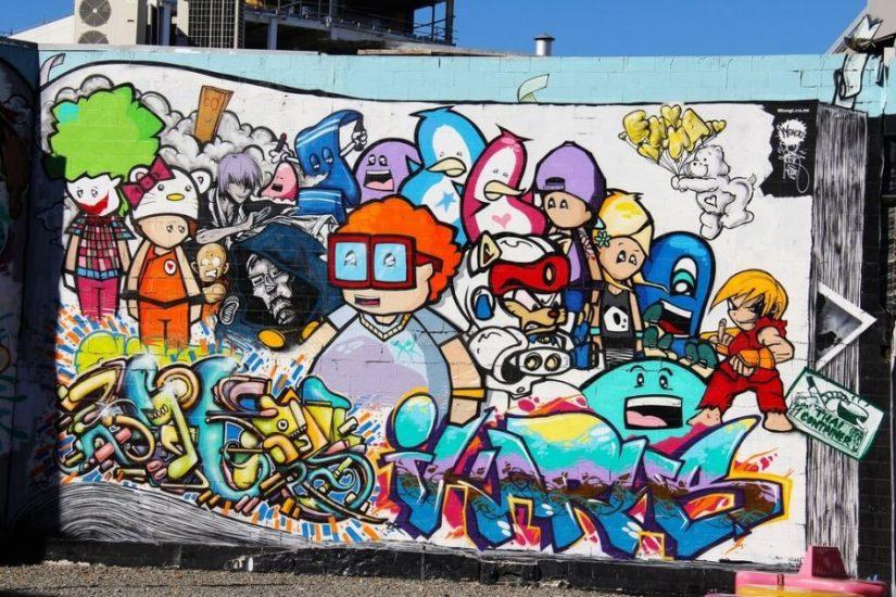 Kumpulan grafiti kartun terbaik